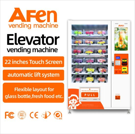 Afen Belt Conveyor Elevator Egg Salad Healthy Food Vending Machine for Supermarket