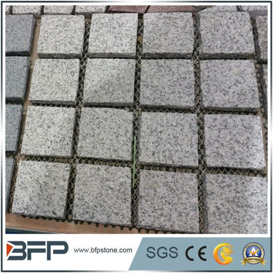 Light Grey Classic Grey G603 Granite Garden/Meshed Cobblestone/Square Shape/Paving Stones for Landscaping/Parking/Driveway/Walkway
