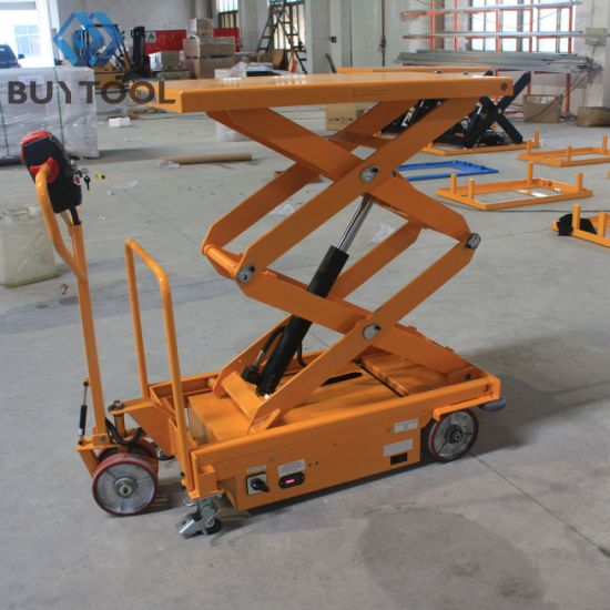 Buytool Esm120d Electric Self-Propelled Scissor Lift Platform Lift Table