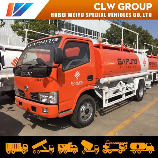 Dongfeng 95HP 6 Wheel 5000liters 5ton Oil Bowser Fuel Refueling Delivery Tanker Truck Dispenser