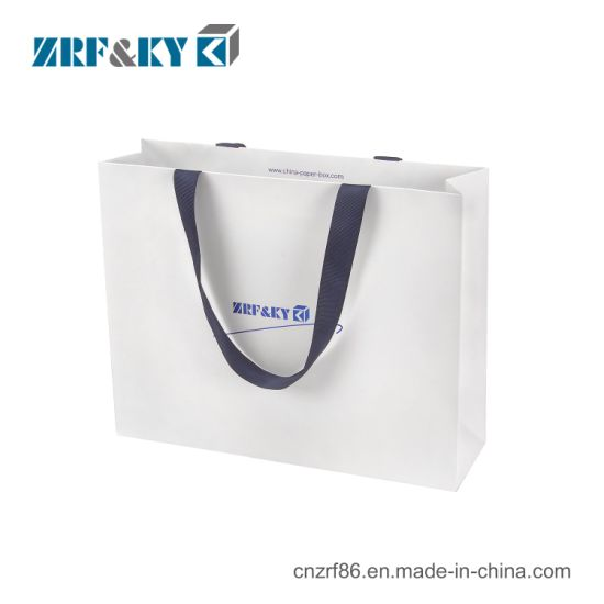 Wholesale Logo Printed Recycled Retail Paper Shopping Bag with Handle