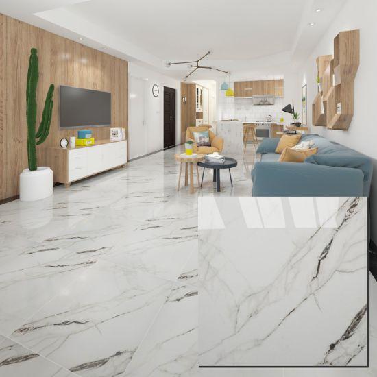 600X600 Lobby Floor Living Room White Carrara Marble Tile