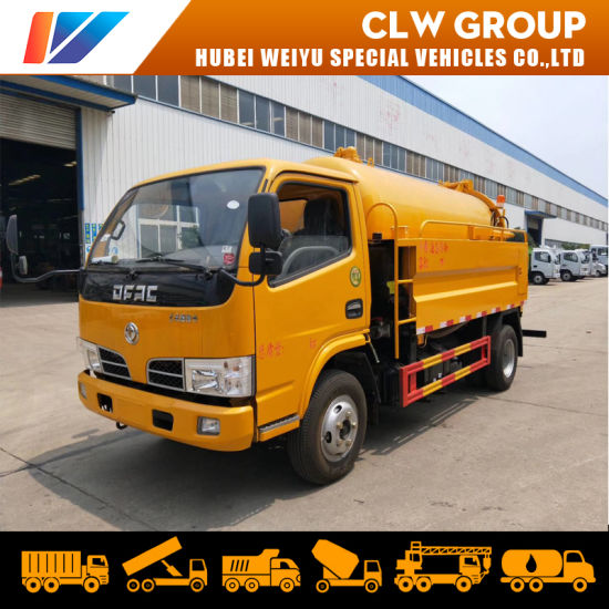 Dongfeng High Pressure Jetting Sewer Cleaning Truck 3.5m3 Suction Tank