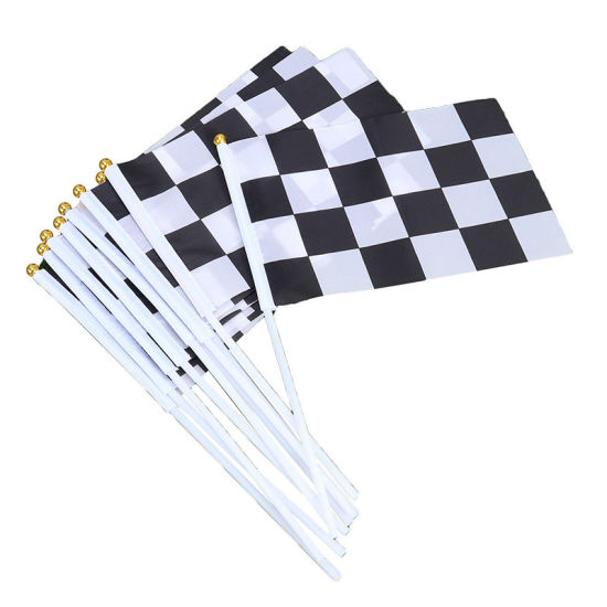 Cheap Customized Logo Hand Held Waving Mini Hand Pole Flag for Promotion pictures & photos
