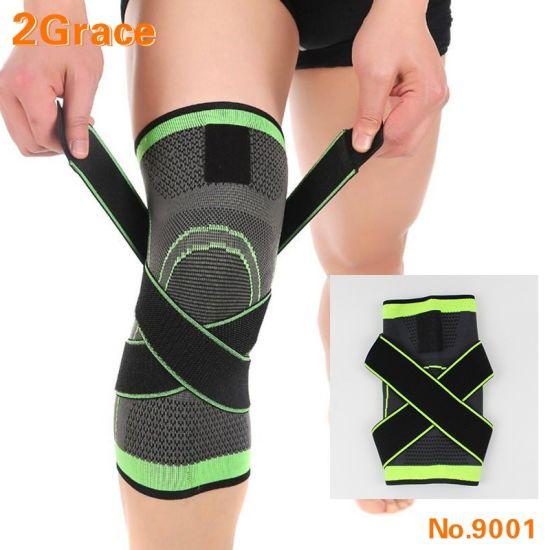 Professional Weaving Elastic Support Knee Brace for Sports