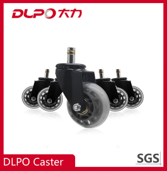 Hot Selling Office Chair Caster Replacement with Transparent PU Wheel