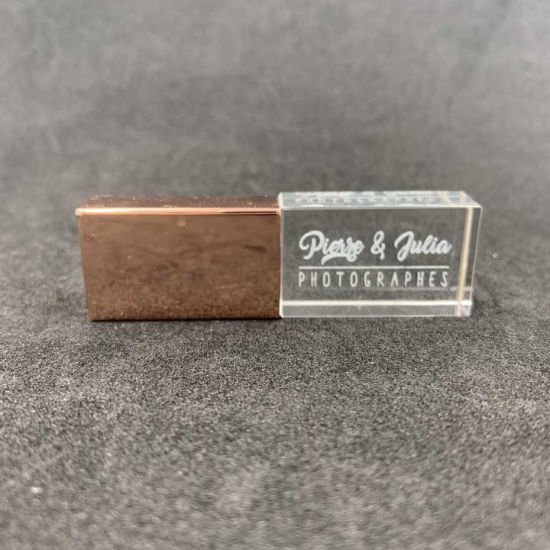 Creative LED Smi USB Disk USB Flash Drive Crystal Private Logo Customised