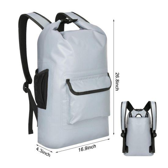 Waterproof Dry Bag Backpack Long Adjustable Shoulder Straps Included Roll Top Dry Compression Sack for Kayaking Boating Camping