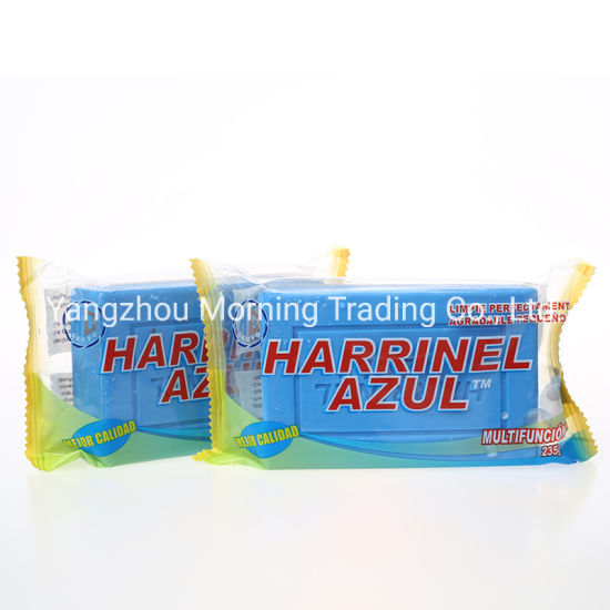 Factory OEM 235g Harrinel Blue Customized Laundry Soap