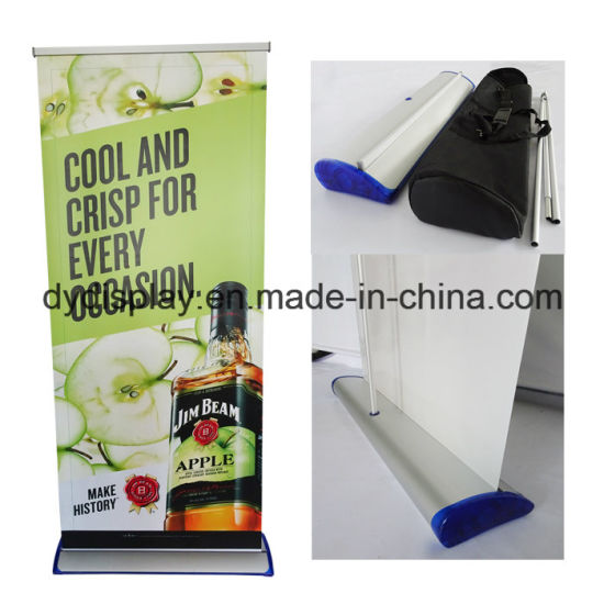 China Full Aluminum Retractable Pull Up Banner Indoor Roll Up Custom Pull Up Display Stands