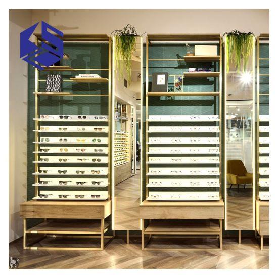 Luxury Metal Sunglasses Shop Glasses Display Stand Furniture