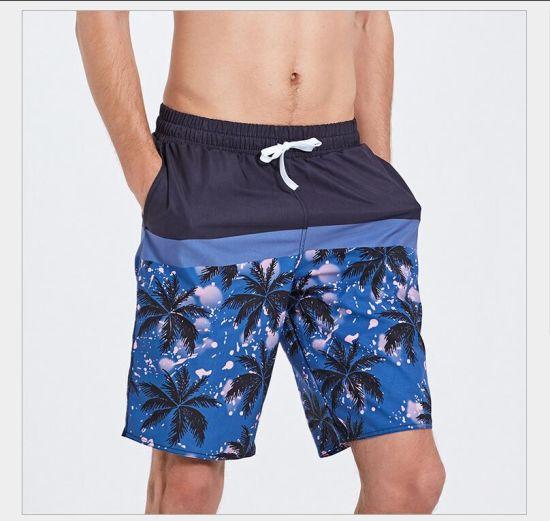 2666c1a3cdd02 Men′s Hawaiian Swim Trunk Beach Shorts Swimwear Flamingo Printed with Mesh  pictures & photos