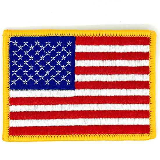 Embroidered Patch with Merrow Edge for America Flag