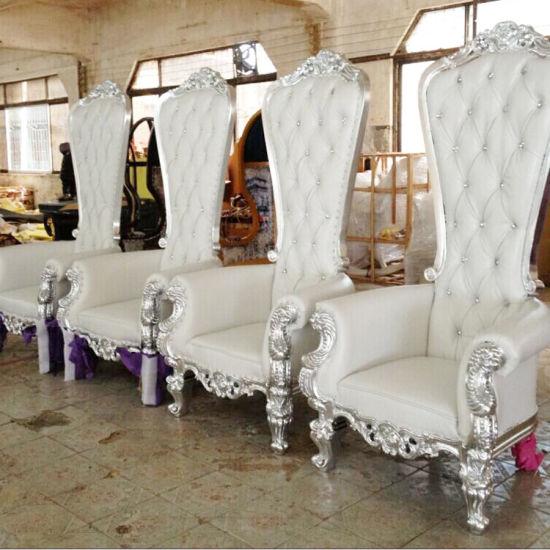King Queen Throne Antique Classic Chair Wedding Brideu0026Bridegroom