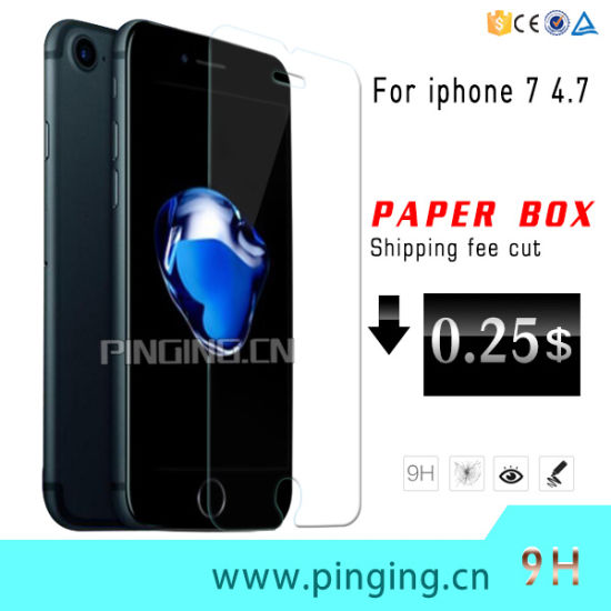 Factory Price 9h Tempered Glass Screen Protector for iPhone 7 pictures & photos