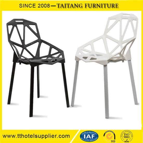 china pp seat fashion leisure chair with metal leg plastic cafe