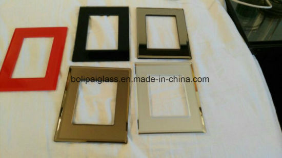 3&4mm Bevelled Edges Bornze Mirror Frosted Glass Switch Panel