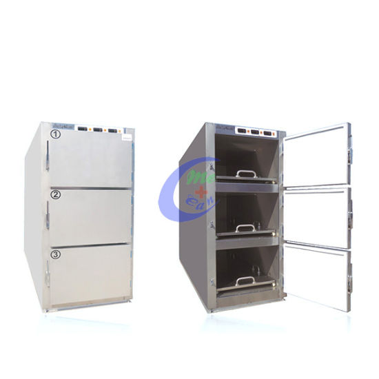 China Low Price 3 Body Mortuary Refrigerator - China