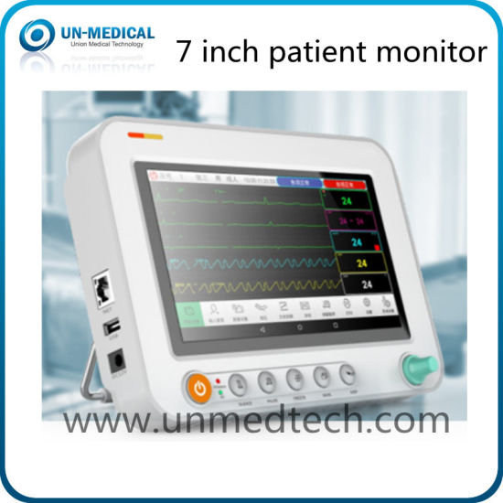 Hot - 7 Inch Multi Parameters Patient Monitor for Handheld Operation pictures & photos
