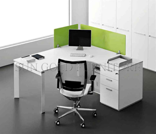 Charmant Popular Single Workstation Style Office Desk With Acrylic Partition  (SZ WS674)