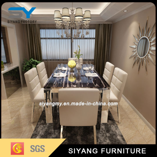 Chinese Furniture Square Marble Dining Table pictures & photos