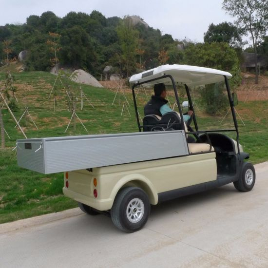 Cheap 2 Seater Electric Utility vehicle Golf Cart with Cargo pictures & photos