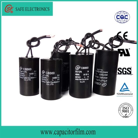 Cbb60 AC Motor Running and Starting Film Capacitor for Water Pump