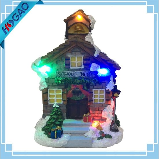 animated holiday downtown village house musical christmas decor diplay - Musical Animated Christmas Decorations