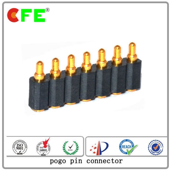 7pin Male Gold Plated Spring Loaded Pogo Connector