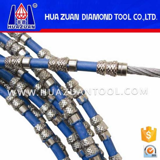 Huazuan Top Quality Aggressive Vacuum Brazed Diamond Wire Saw pictures & photos