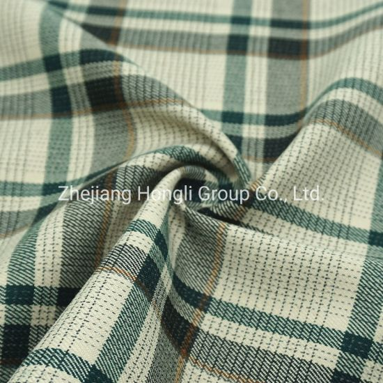 85% Polyester 13% Rayon 2% Spandex T/R Check Fabric