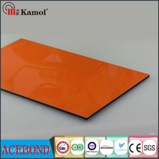 Orange PE or PVDF Coating ACP with PVDF Coating Acm Building Materials and Decorative Material