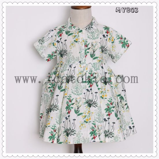 5f2880a04 Top Sale Kids Clothing Cotton Party Design Wedding Dress Baby Girl Summer  Dress