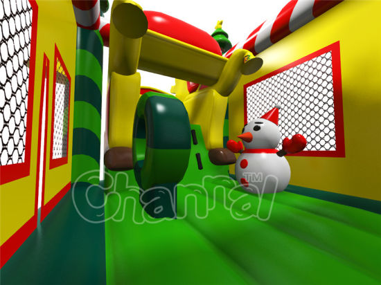Funny Christmas Tree Inflatable Castle for Jumping Games pictures & photos