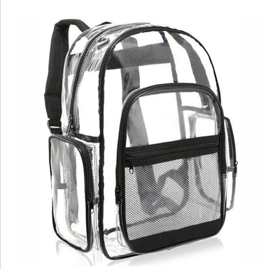 Custom Waterproof Clear PVC Kids School Backpack Bag