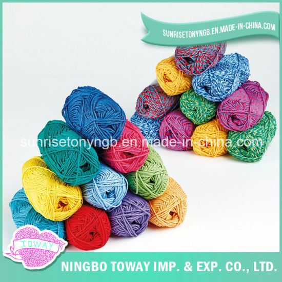 Cheap Knitted Wholesale Yarn Printed Colorful Dye Acrylic Fabric (T001)