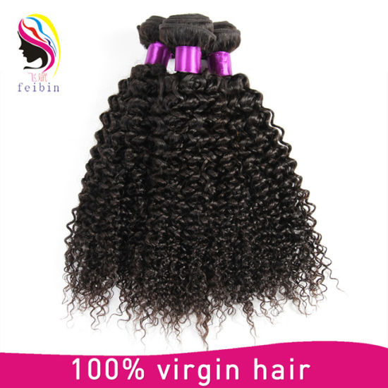 Overnight Shipping 8A Virgin Brazilian Kinky Curly Hair Extension pictures & photos