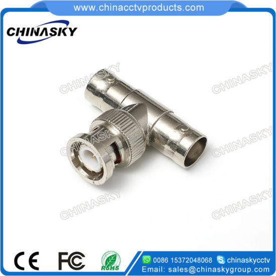 T Connector BNC Male To 2 BNC Female Coaxial Coax RG59 Lot Splitter Adapter