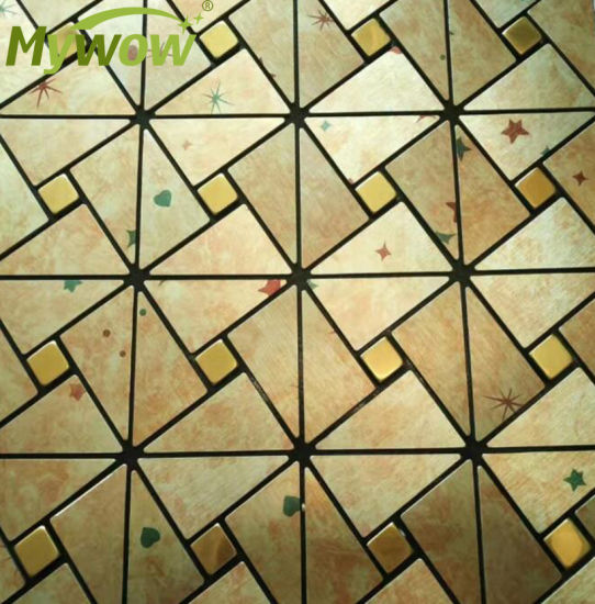 Self-Adhesive Aluminum Mosaic Wall Tile Mosaic for Kitchen Wall