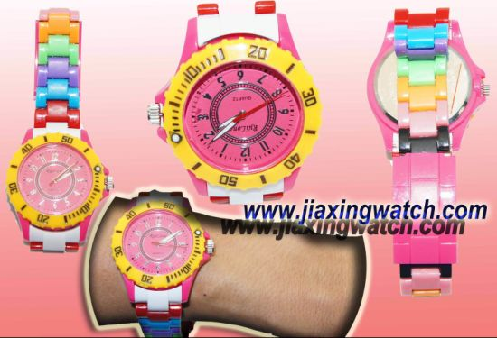 High Quality Rainbow Plastic Watches (D1) for Sale