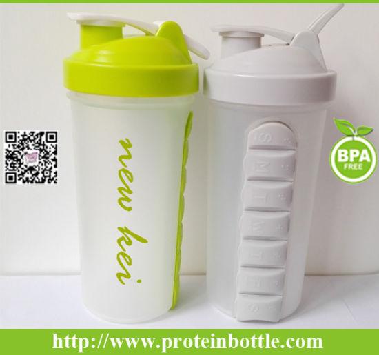 600ml Plastic Nutriton Shaker with Metal Ball