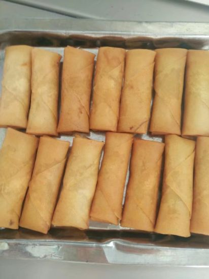 HACCP Brc Certifacte Tsingtao Vegetable 25g/Piece Spring Rolls in Frozen Cookin pictures & photos