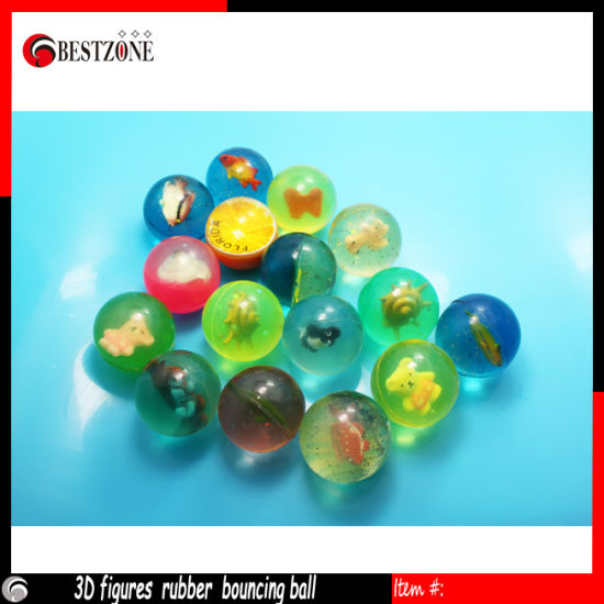 3D Figure Rubber Bouncing Ball for Kids pictures & photos