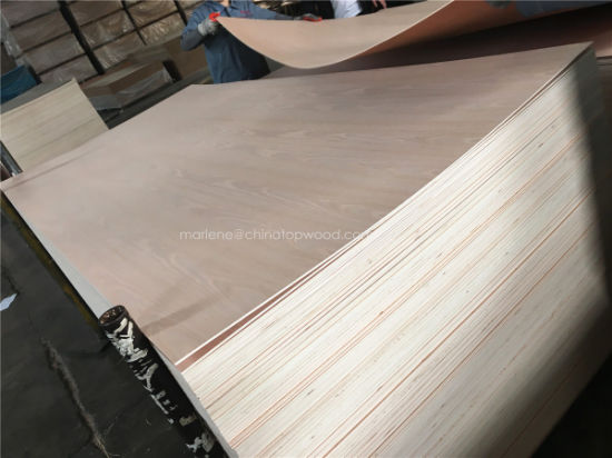 China 6mm 1220 2440 Furniture Backing Board Plywood Red Oak Fancy