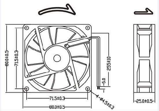 China High Quality 12v 8038 80mm 80x80x38mm Axial Flow Fan China