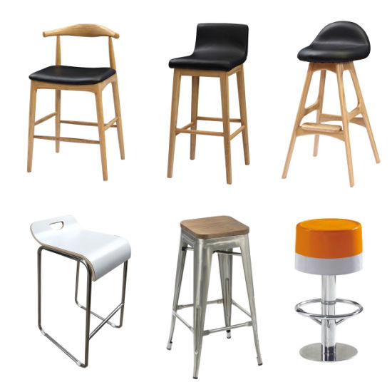 Wholesale Solid Wood Frame Leather Seat Bar Stool Chair (FOH-BCA72)