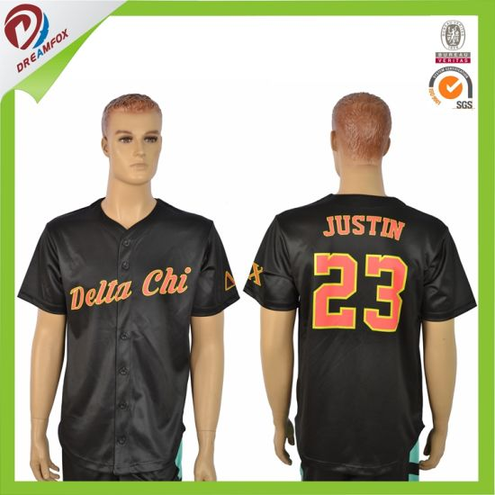 Free Design Custom Stripe Cubs Baseball Jersey Made in China pictures & photos