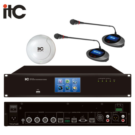 China Digital Desktop Wireless Audio Conference Room Sound System China Wireless Conference Microphone System Audio Conference System
