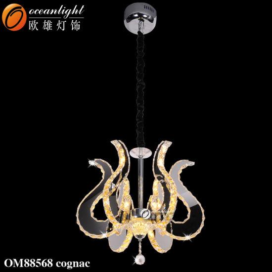 Luxury Special Design Crystal Cognac Color Chandelier Light