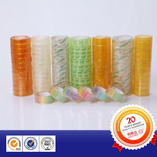 High Quality Stationery Tape, Easy Tear BOPP Stationery Tapes